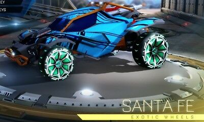 Pc Rocket League New Santa Fe Wheels From New Impact Crate Fast Delivery Ebay