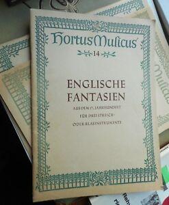 Englische-Fantasien-f-3-Streich-oder-Blasinstrumente-a-d-17-Jahrhundert-1957