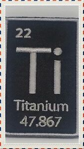 Image Is Loading TITANIUM TI MORALE PATCH PERIODIC TABLE ELEMENT 47