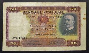 Portugal-50-Escudos-28-juin-1949