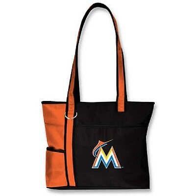 Weitere Ballsportarten PräZise Neu Mlb Carryall Gametime Einkaufstasche Geldbörse Lizenziert Miami Marlins