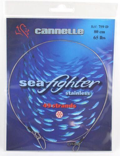 cannelle SEAFIGHTER Stahlvorfach zum Meeresangeln für Kunstköder bis 40kg