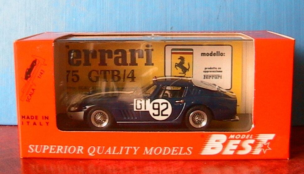 FERRARI 275 GTB-4  92 NURBURGRING 1967 VESTEY GASPAR BEST 9133 1 43 MADE ITALY