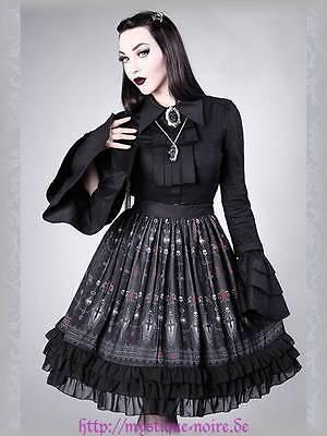 Gothic Lolita Rock Sarg Fledermaus Blutflaschen Kreuze Vampire Petticoat Skirt