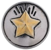 Silver Gold Star 20mm Snap Charm Interchangeable Fits Ginger Snaps
