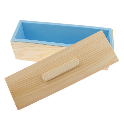 Rectangle Silicone Soap Mold Wood Box DIY Tools Toast Loaf Baking Cake Molds