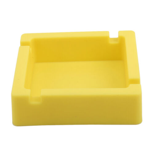 Square Portable Eco-Friendly Silicone Heat Resistant Ashtray Holder Gift shan