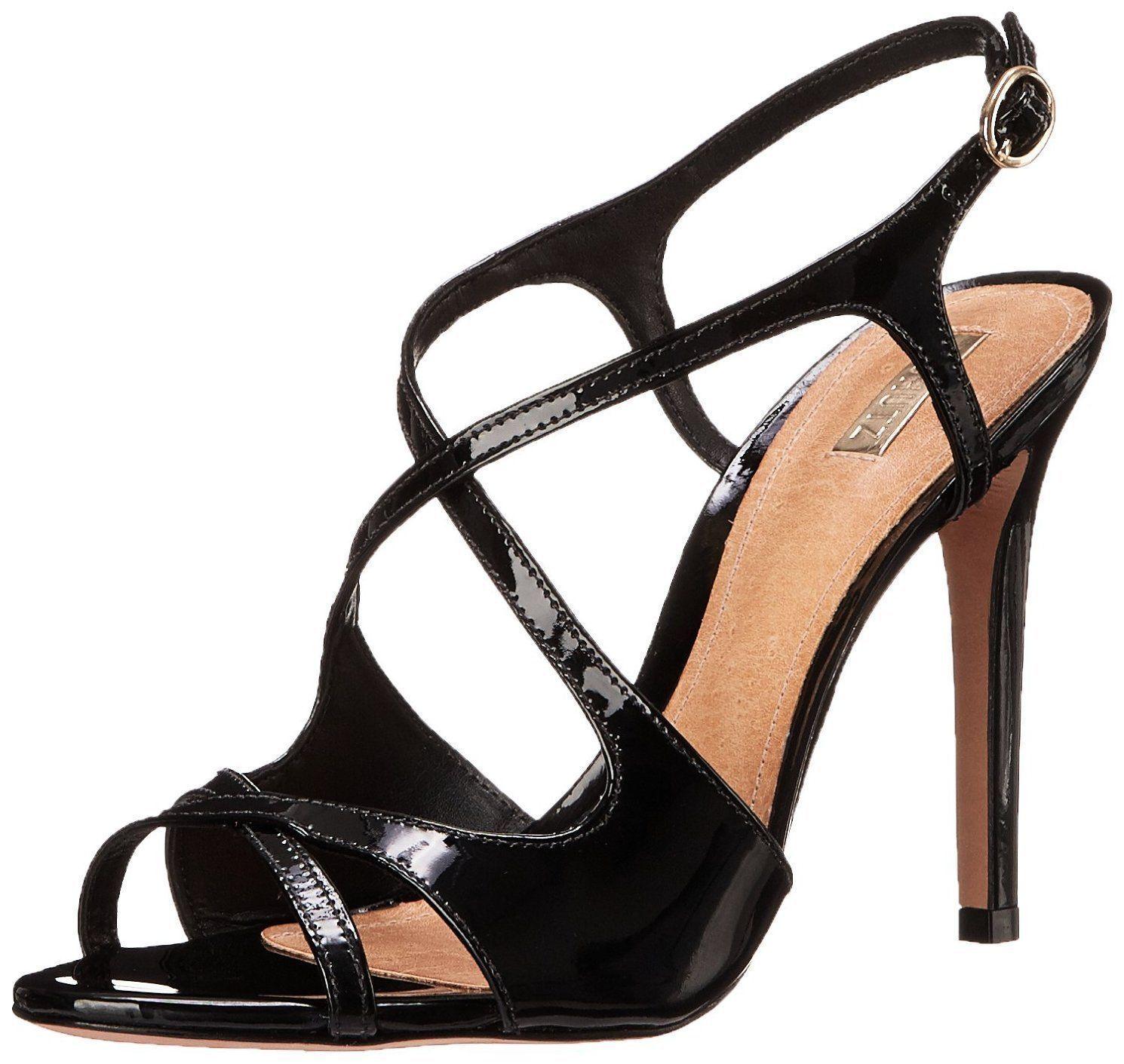 Vestido para mujer esadora Schutz Sandalia-Negro - 7.5 - Nuevo En Caja