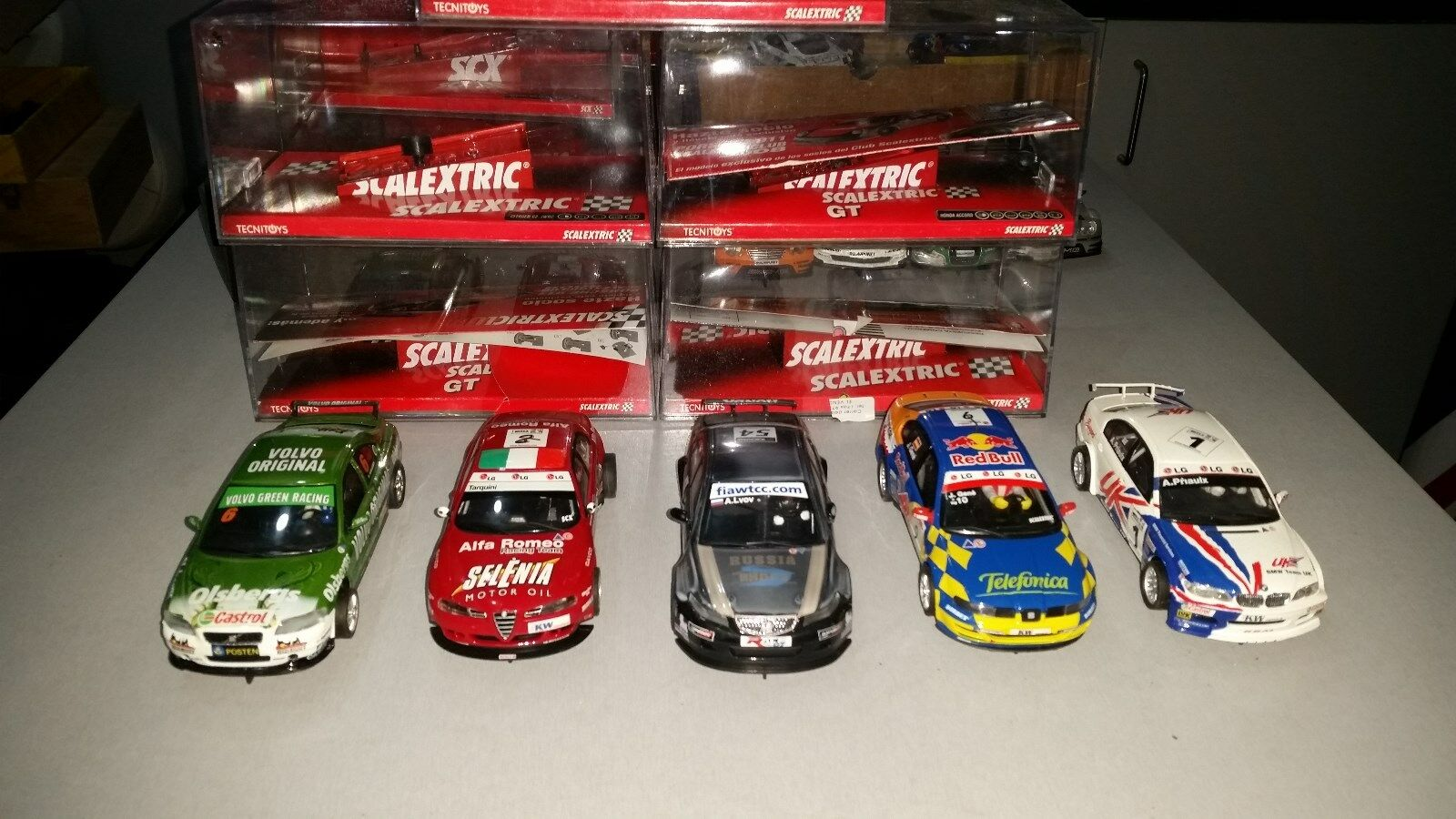 Lot of 5  SCX GT 1 32 slot cars race tuned