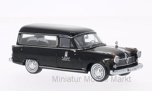 49520 - Neo Borgward Hansa 2400 rappold inhumation voiture Noir - 1957 - 1 43