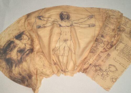 soft scarf printed sciarpa leggera stampata Uomo Vitruviano