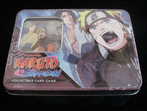 4 Packs ++ Naruto Fierce Ambitions TCG CCG Naruto Vs Sasuke Tin 1 Gold Foil