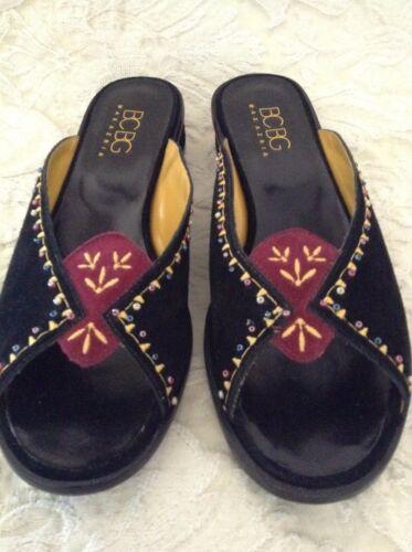 sandali nero camoscio ricamato marocchini Nwob 6b Maxazria in e Sz Bcbg boemo wZYAXv6qx