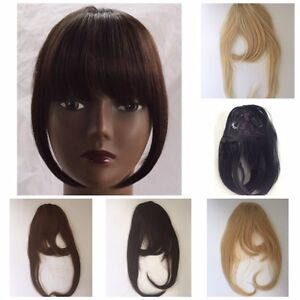 Image Is Loading Clip In Front Closure Bangs Fringe Straight 100