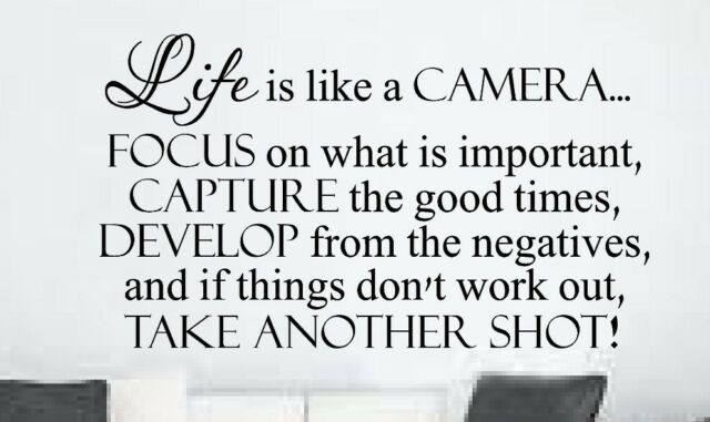 Life is like a camera wall quotes saying words lettering sticker decal mural art