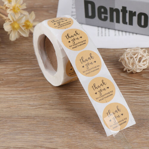 Kraft Paper Thank You for Supporting My Small Business Stickers label Stic/_ ba