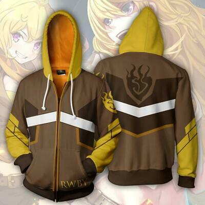 Rwby Yang Xiao Long Cosplay Kapuzenpullover Jacke Anime 3D Kostüm