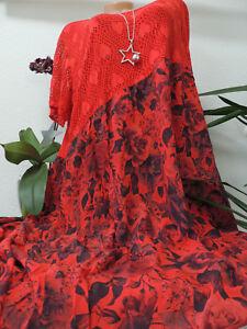 Damen Kleid Größe 52 54 56 58 60 Übergröße Kleider