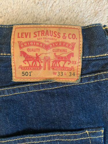 Levi's 501 Selvedge Jeans Men's Size W33 L34 White