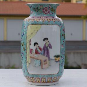 Chinese-famille-rose-Porcelain-vase-50-039-s-60-039-s-70-039-s-Qianlong-Mark