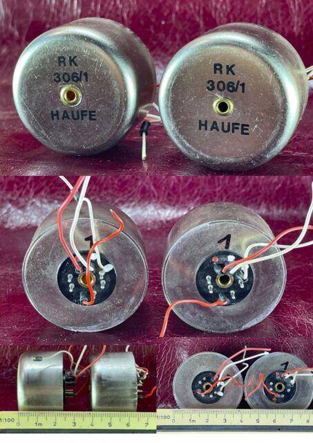 Pair HAUFE RK 306/1 tarsmfomers for AKG, Neumann, Vintage microphone