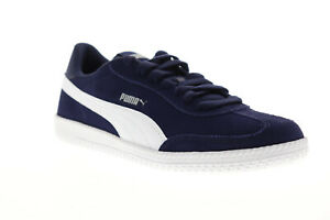 Puma-Astro-Cup-36442315-Mens-Blue-Suede-Low-Top-Lace-Up-Sneakers-Shoes