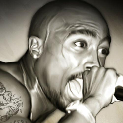 2PAC TUPAC Hip Hop Rap Icon Poster Photo Painting Artwork on CANVAS Wall Art