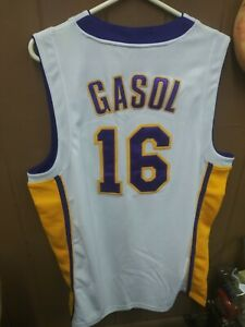 PAU GASOL LOS ANGELES LAKERS 52 ADIDAS NBA AUTHENTICS JERSEY | eBay