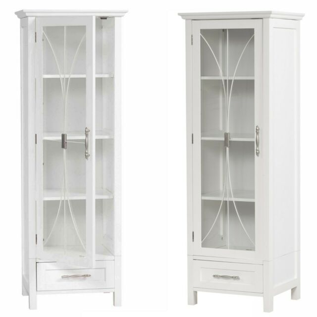1 Door Bathroom Linen Cabinet Tower