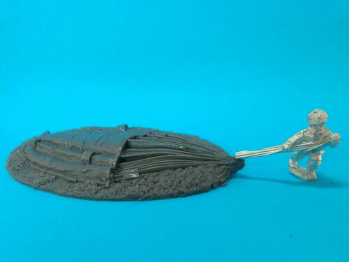 1st Corps 28mm WW2 British Paratroop Flattened parachute and Para.