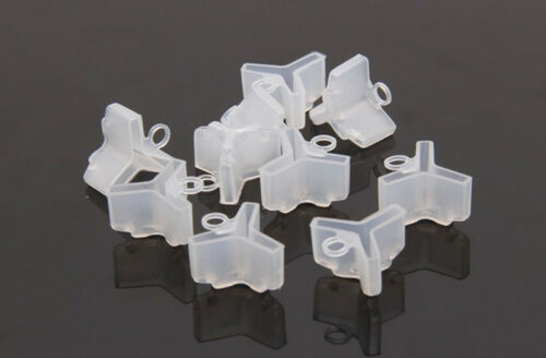 10//30//50pcs Fishing Treble Hook Durable Covers Protection Case Protector White