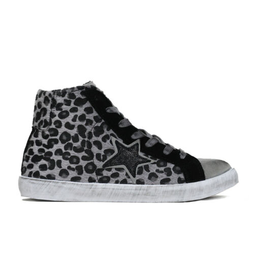 Details about  /Sneakers High D-RED Upper Leather Print Leopard Women/'s Shoe Grey W21L001L