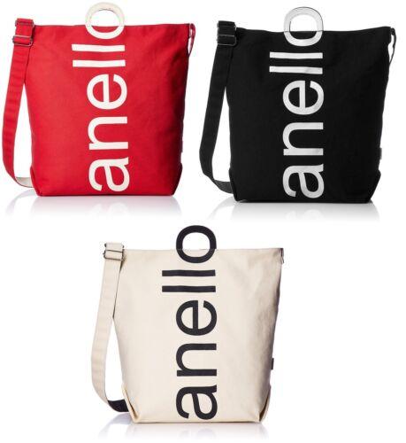 100/% authentic Anello AU-S0061 Cotton Canvas Logo 2way Tote Bag 3 Colors Japan
