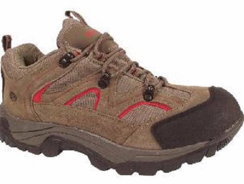 USED Men's NORTHSIDE SNOHOMISH Hiking Low Brown+Red Waterproof Trail Hiking SNOHOMISH Shoes 089a3e