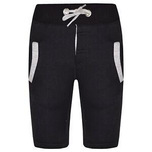 851efa98d19c Kids Boys Shorts Fleece Black   Grey Chino Shorts Knee Length Half ...