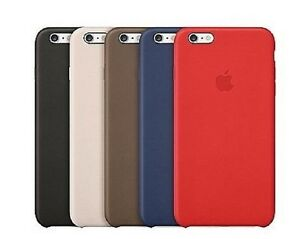new arrival b183d d63b0 Details about Genuine Official Apple Leather Case Cover for iPhone 6 & 6S -  Various Colours