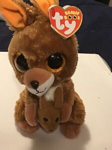 TY Beanie Boos Kipper the Kangaroo Glitter Eyes New with tags