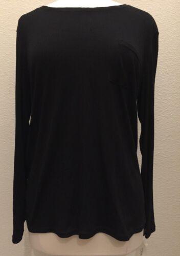 Alfani L//S Scoop-Neck Pajama Sleep Top 271007 Fig Grey Black Medium XL XXL XXXL