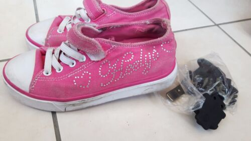 Genuine Girls Pink double wheels Heelys with tools