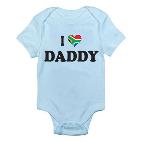 I LOVE DADDY Dad South Africa Father South African Themed Baby Grow//Suit