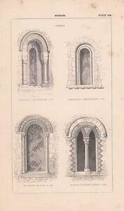 Ansichten & Landkarten Realistisch C1840 Viktorianisch Architektonisch Aufdruck Fenster ~ Norman Sandford Sutton