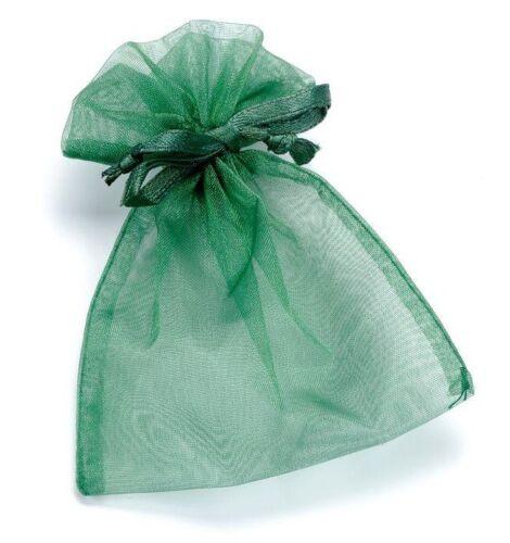 2 Organzasäckchen Organzabeutel grün 13 x 10 cm
