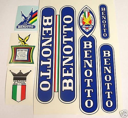 Benotto Vintage Decal Set para Campagnolo Ride  nuevo