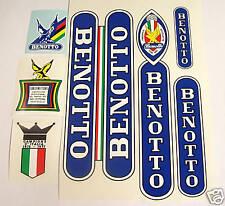 White Benotto Bicycle Decal Set sku Beno-S105