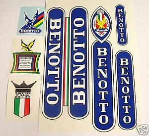 Benotto Vintage Campagnolo Cycle Rahmen Aufkleber Sticker