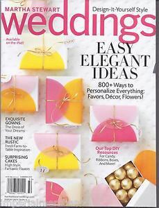 Martha Stewart Weddings Magazine Easy Elegant Ideas Gowns ...