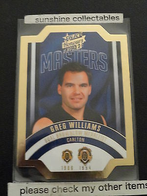 Australian Football Cards Sports Trading Cards 2015 Afl Honours 2 The Masters Die Cut Card Mbm28 Greg Williams 046/300