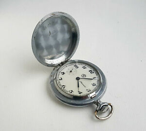 Vintage-Soviet-mechanical-pocket-watch-MOLNIJA-18-jew-USSR