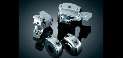 Kuryakyn Chrome Brake Clutch Handlebar Controls Covers Dress Up Kit Harley #9119