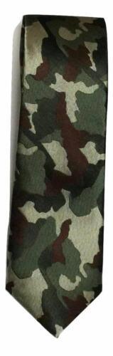 Army Miitary Camouflage camo mens wedding event prom party plain necktie tie UK